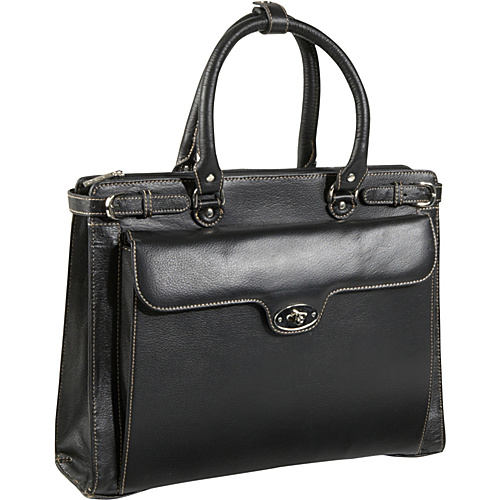 AmeriLeather Kingsley Laptop Briefcase - Black