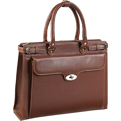 AmeriLeather Kingsley Laptop Briefcase - Brown