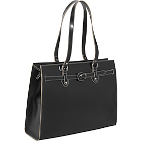 Milano Collection Alexis Laptop Tote Black/Cream