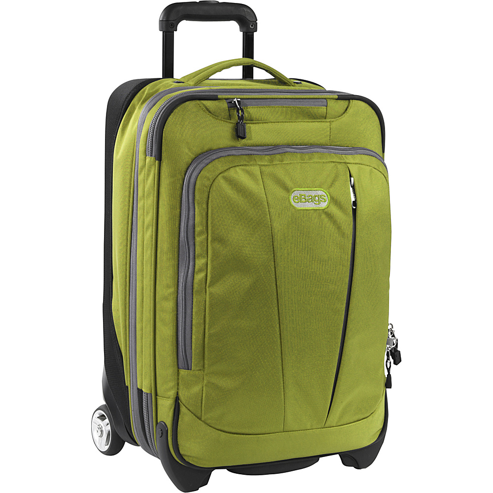 """eBags TLS 22"""" Expandable Carry-On Green Envy - eBags Small Rolling Luggage"""