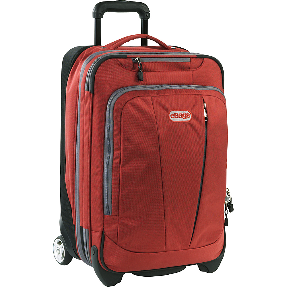 """eBags TLS 22"""" Expandable Carry-On Sinful Red - eBags Small Rolling Luggage"""