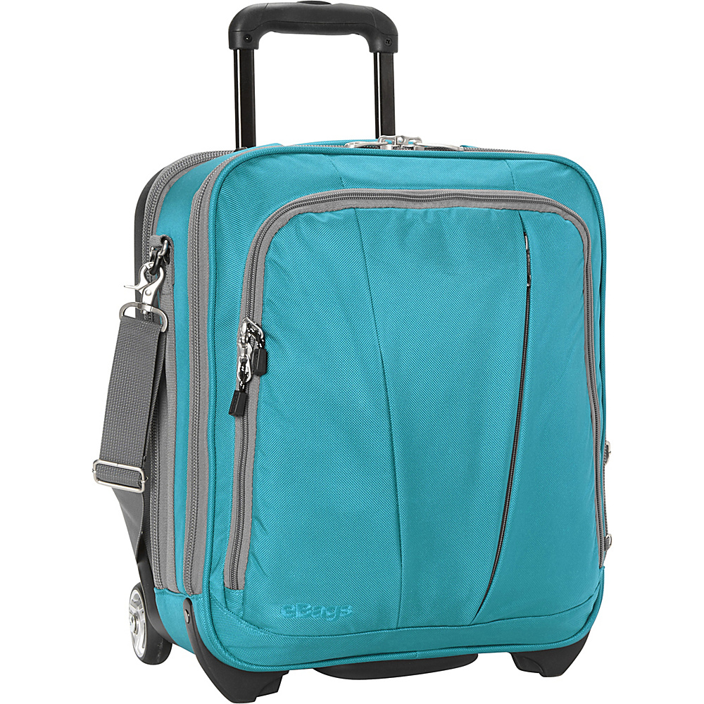 eBags TLS Vertical Mobile Office Tropical Turquoise- Discontinued - eBags Wheeled Business Cases - Work Bags & Briefcases, Wheeled Business Cases