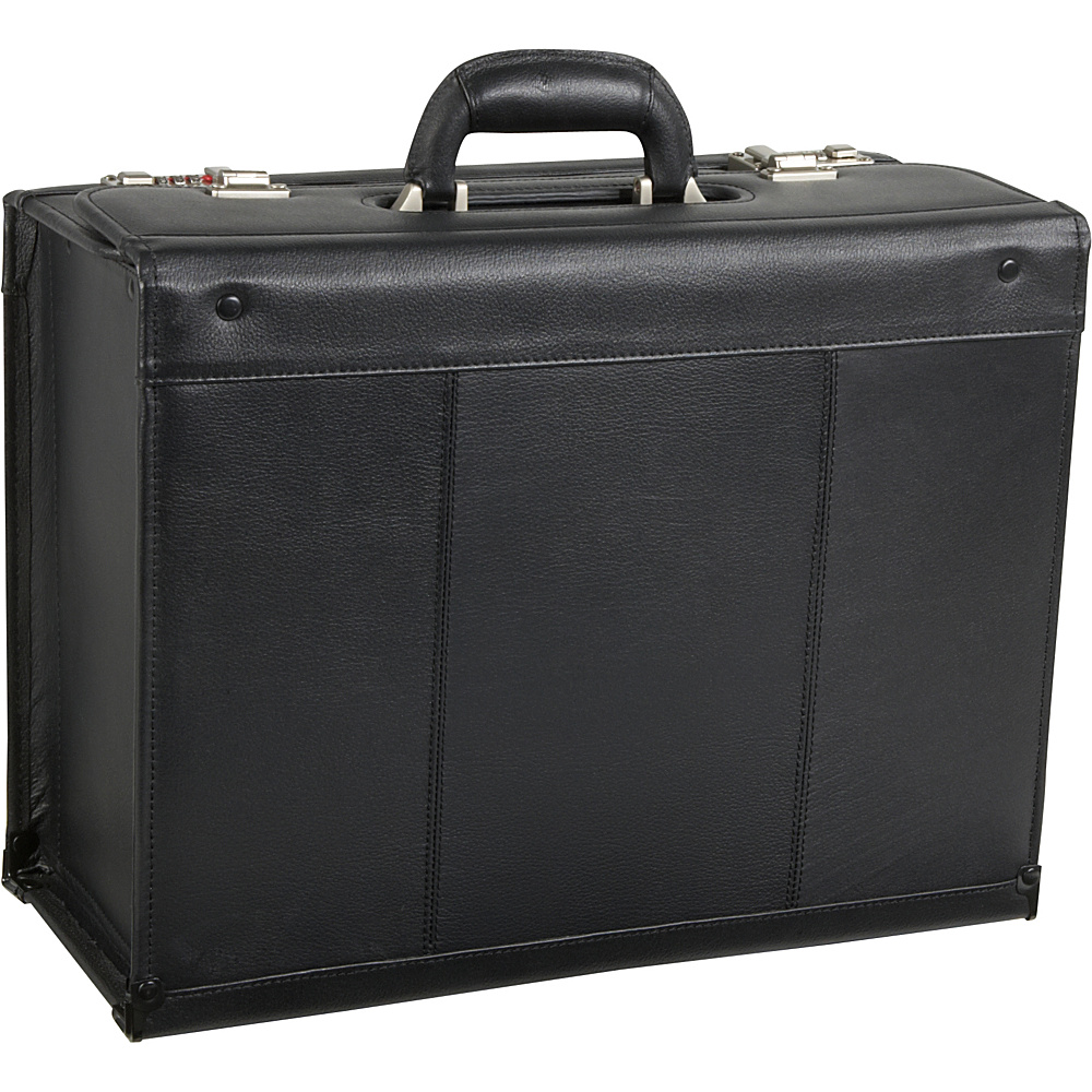 AmeriLeather Leather Pilot Case Black - AmeriLeather Non-Wheeled Business Cases - Work Bags & Briefcases, Non-Wheeled Business Cases