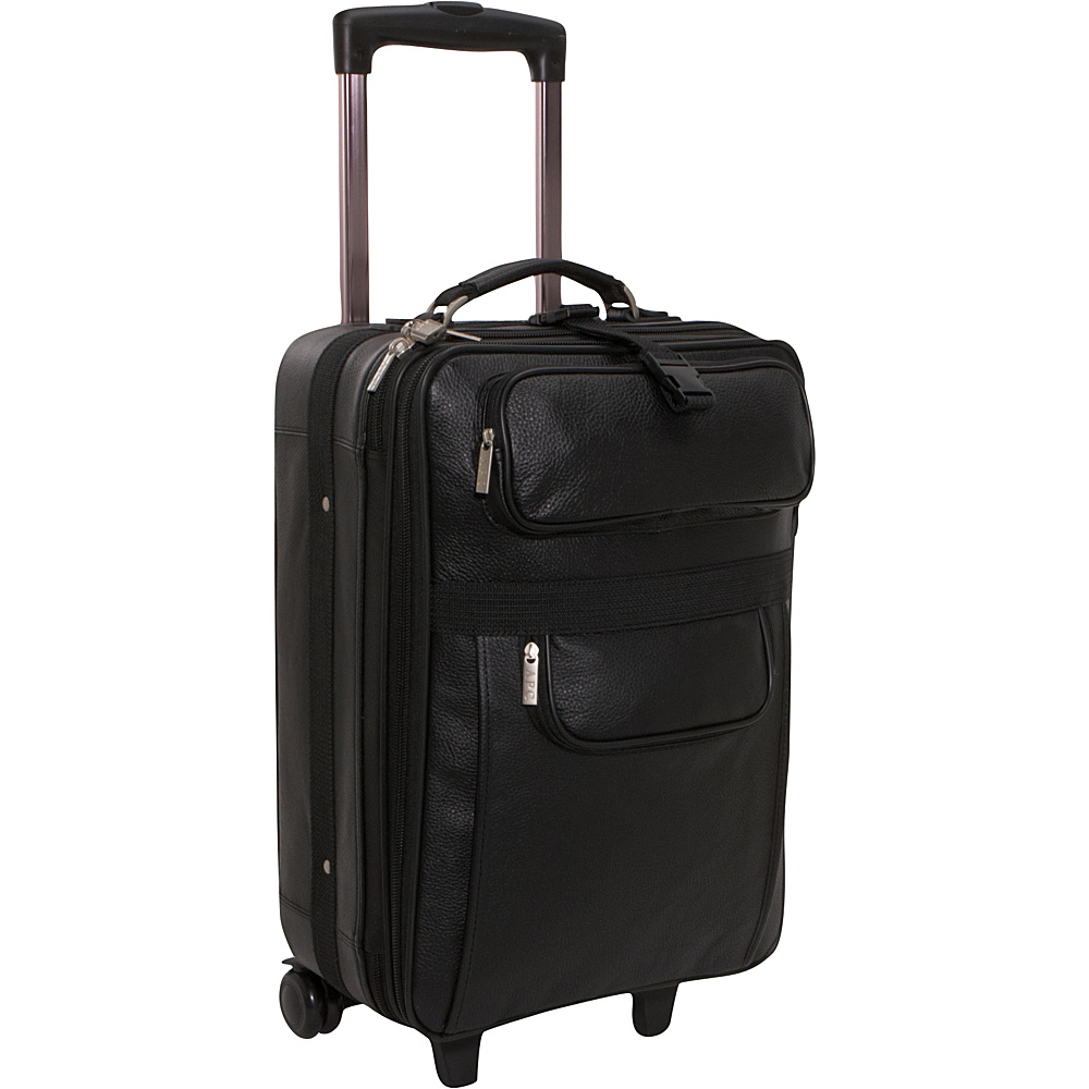 AmeriLeather Leather 20 Expandable Carry On Pullman - - Luggage, Softside Carry-On