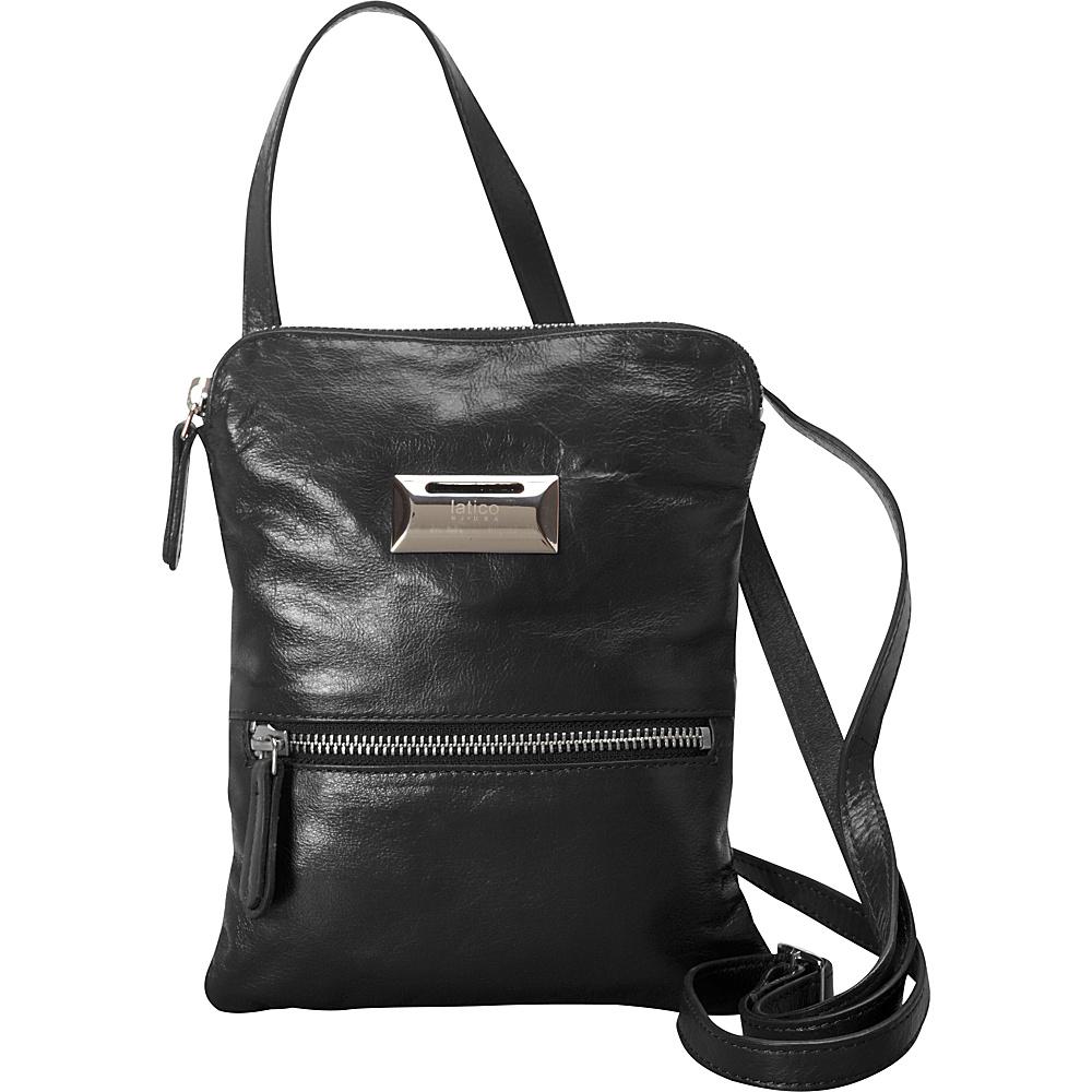 Latico Leathers Dora Crossbody Black - Latico Leathers Leather Handbags - Handbags, Leather Handbags