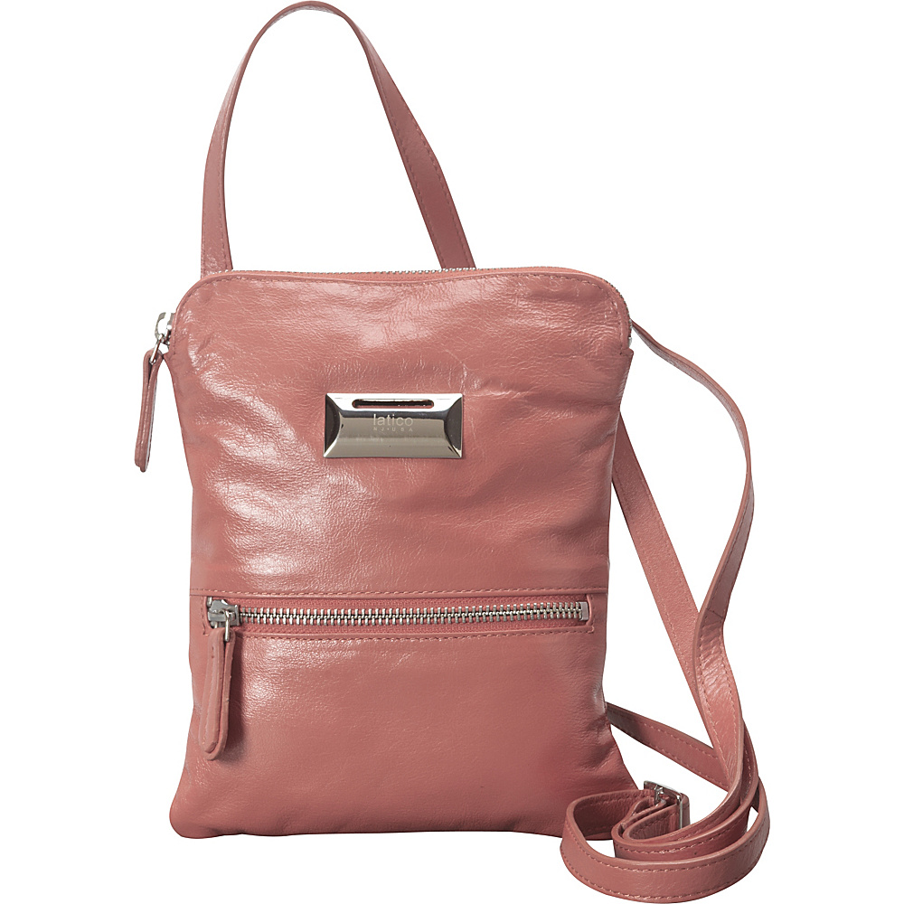 Latico Leathers Dora Crossbody Pink - Latico Leathers Leather Handbags - Handbags, Leather Handbags