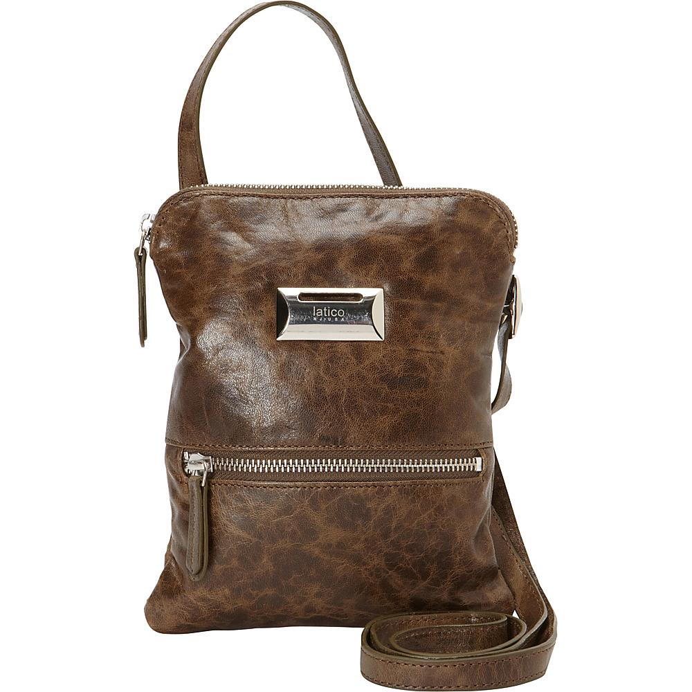 Latico Leathers Dora Crossbody Crunch Olive - Latico Leathers Leather Handbags - Handbags, Leather Handbags