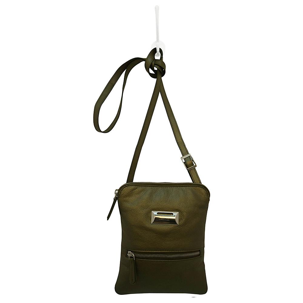 Latico Leathers Dora Crossbody Metallic Olive - Latico Leathers Leather Handbags - Handbags, Leather Handbags