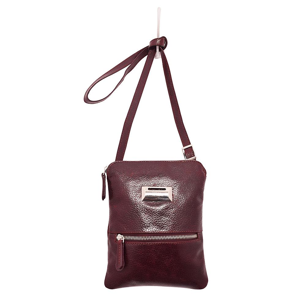 Latico Leathers Dora Crossbody Pebble Burgundy - Latico Leathers Leather Handbags - Handbags, Leather Handbags