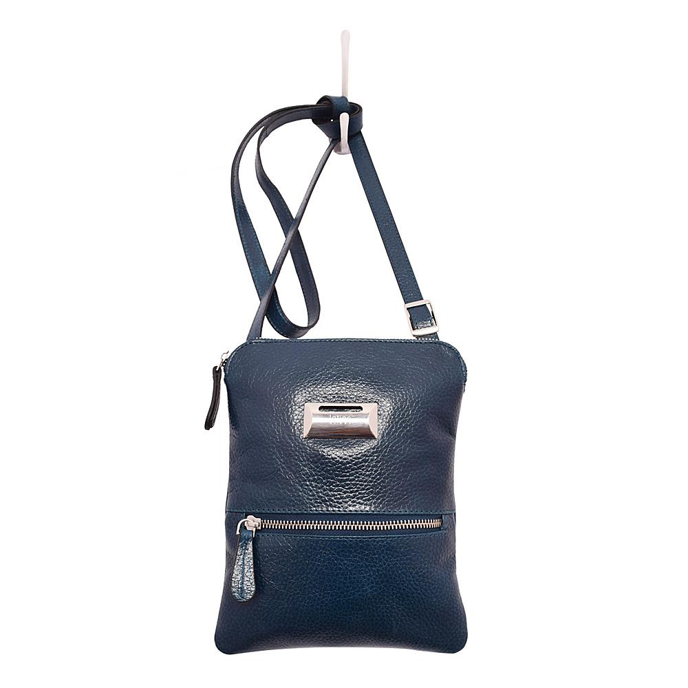 Latico Leathers Dora Crossbody Pebble Navy - Latico Leathers Leather Handbags - Handbags, Leather Handbags