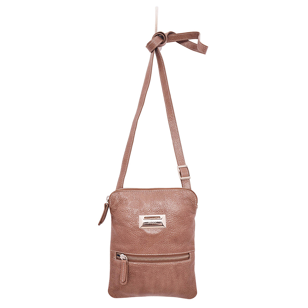 Latico Leathers Dora Crossbody Pebble Taupe - Latico Leathers Leather Handbags - Handbags, Leather Handbags