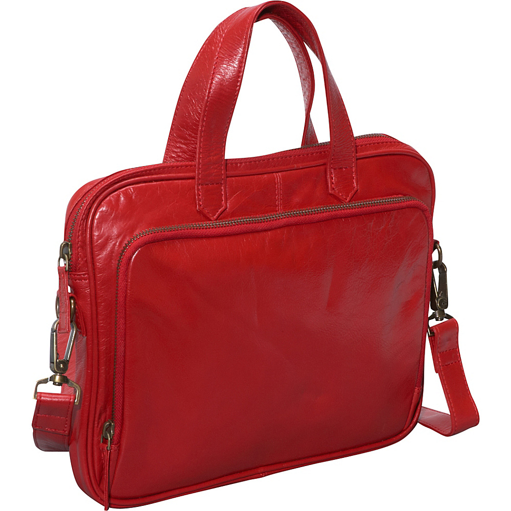 Latico Leathers Hamilton - Red - Work Bags & Briefcases, Non-Wheeled Business Cases