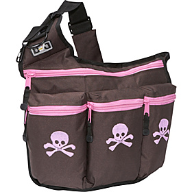 Brown With Pink Skull And Crossbone Brown