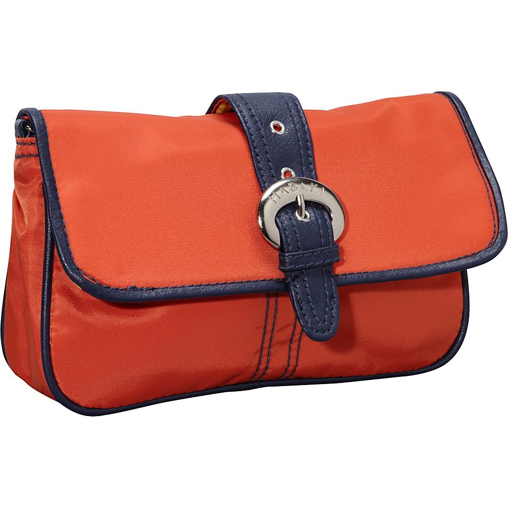 Hadaki Clutch Orange/Navy - Hadaki Manmade Handbags - Handbags, Manmade Handbags