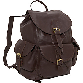Urban Buckle-Flap Backpack  Dark Brown