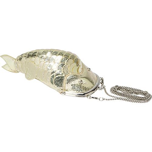 Ashley M Metallic Fish Purse - Clutch
