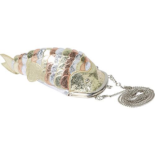 Ashley M Metallic Fish Purse Multi - Ashley M Evening Bags