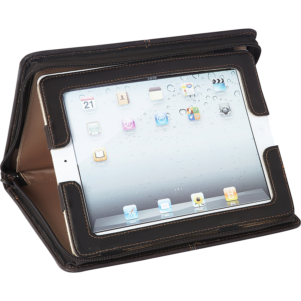 SOLO Vintage Leather iPad Padfolio - Espresso - Technology, Electronic Cases