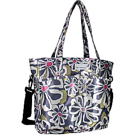 New Orleans Diaper Bag Charcoal Floral
