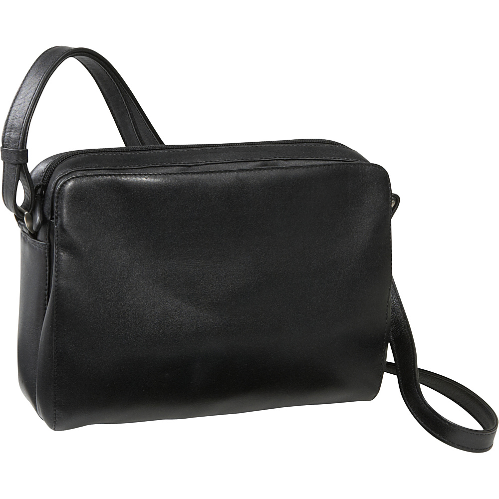 Derek Alexander EW Top Zip Black - Derek Alexander Leather Handbags - Handbags, Leather Handbags