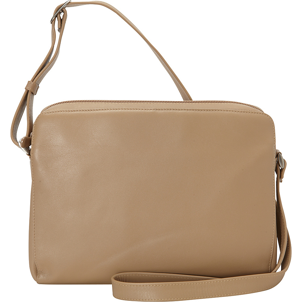 Derek Alexander EW Top Zip Camel Derek Alexander Leather Handbags