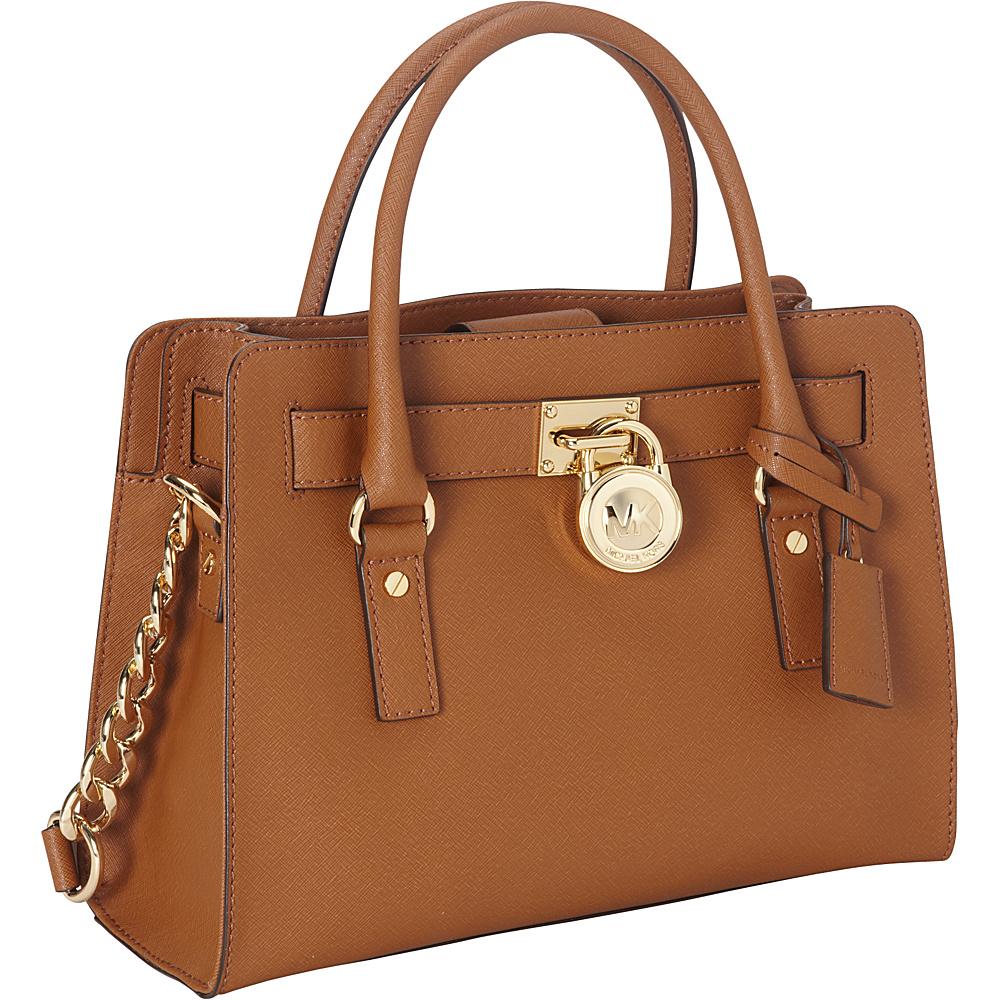 MICHAEL Michael Kors Hamilton 18K E/W Saffiano Satchel Handbag Luggage - MICHAEL Michael Kors Designer Handbags