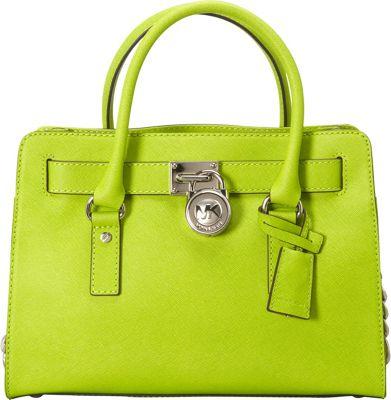 MICHAEL Michael Kors Hamilton 18K E/W Saffiano Satchel Handbag Pear - MICHAEL Michael Kors Designer Handbags