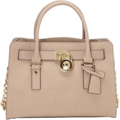 MICHAEL Michael Kors Hamilton 18K E/W Saffiano Satchel Handbag Blush - MICHAEL Michael Kors Designer Handbags