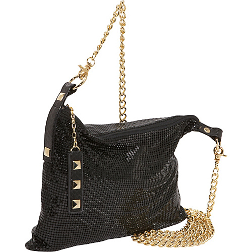 Whiting and Davis Studs & Snake Convertible Hobo - Cross Body