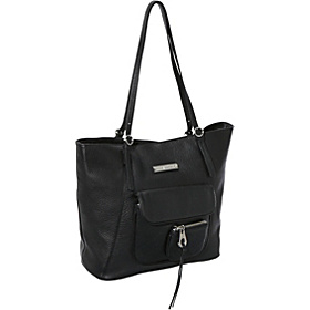 Key Item Leather Tote Black