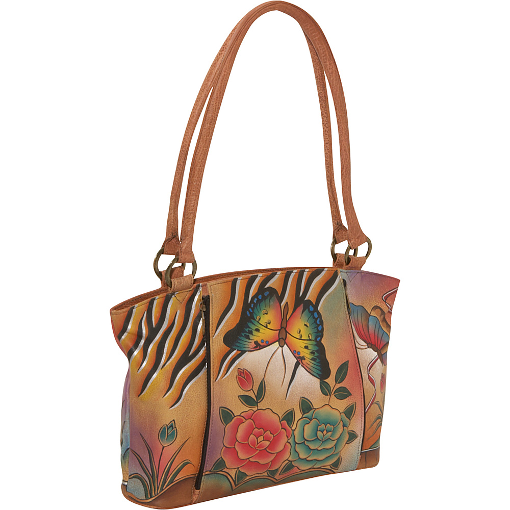 ANNA by Anuschka Large Organizer Tote - Antique Rose - Handbags, Leather Handbags