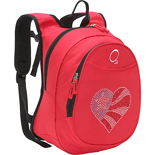O3 USA O3 Kids Pre-School Flag Heart Backpack with Integrated Lunch Cooler Flag Heart - O3 USA Kids' Backpacks