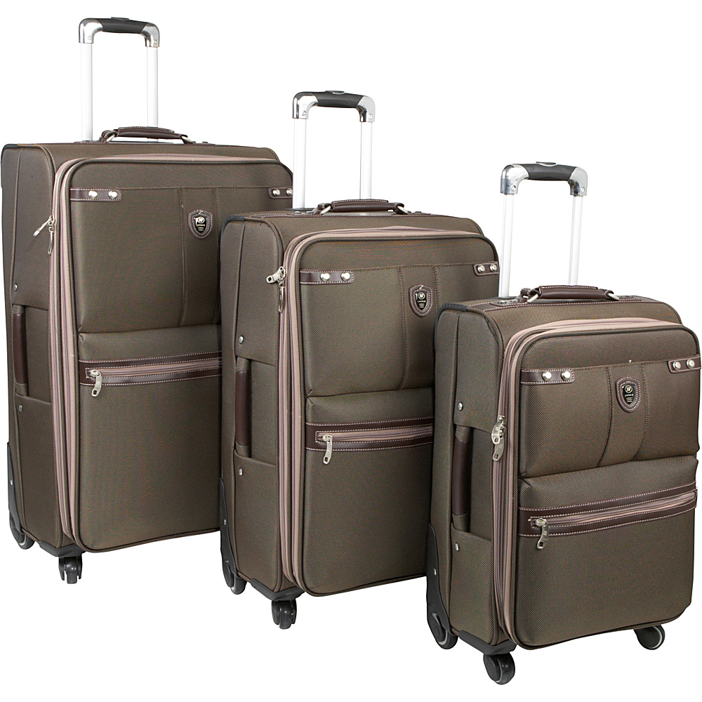 J World Centennial 3 Piece Spinner Set - Brown - Luggage, Luggage Sets