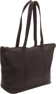 Le Donne Leather Double Strap Large Pocket Tote Cafe - Le Donne Leather Leather Handbags
