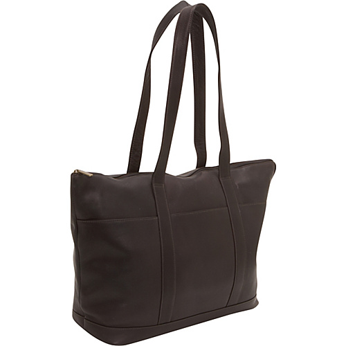 Le Donne Leather Double Strap Large Pocket Tote Café - Le Donne Leather Leather Handbags
