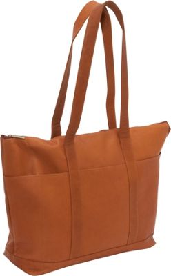 Le Donne Leather Double Strap Large Pocket Tote Tan - Le Donne Leather Leather Handbags