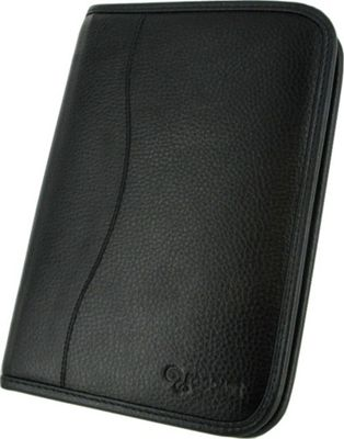 rooCASE Samsung GALAXY Tab 7.7 P6800: Executive Portfolio Leather Case Black - rooCASE Laptop Sleeves
