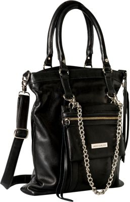 Jacki Easlick Tote with Detachable Mini Bag Black - Jacki Easlick Leather Handbags
