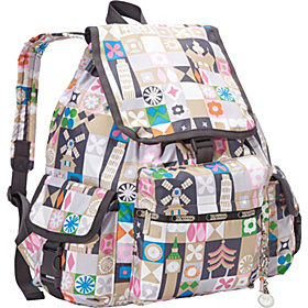 Voyager Backpack w/ Charm Global Journey