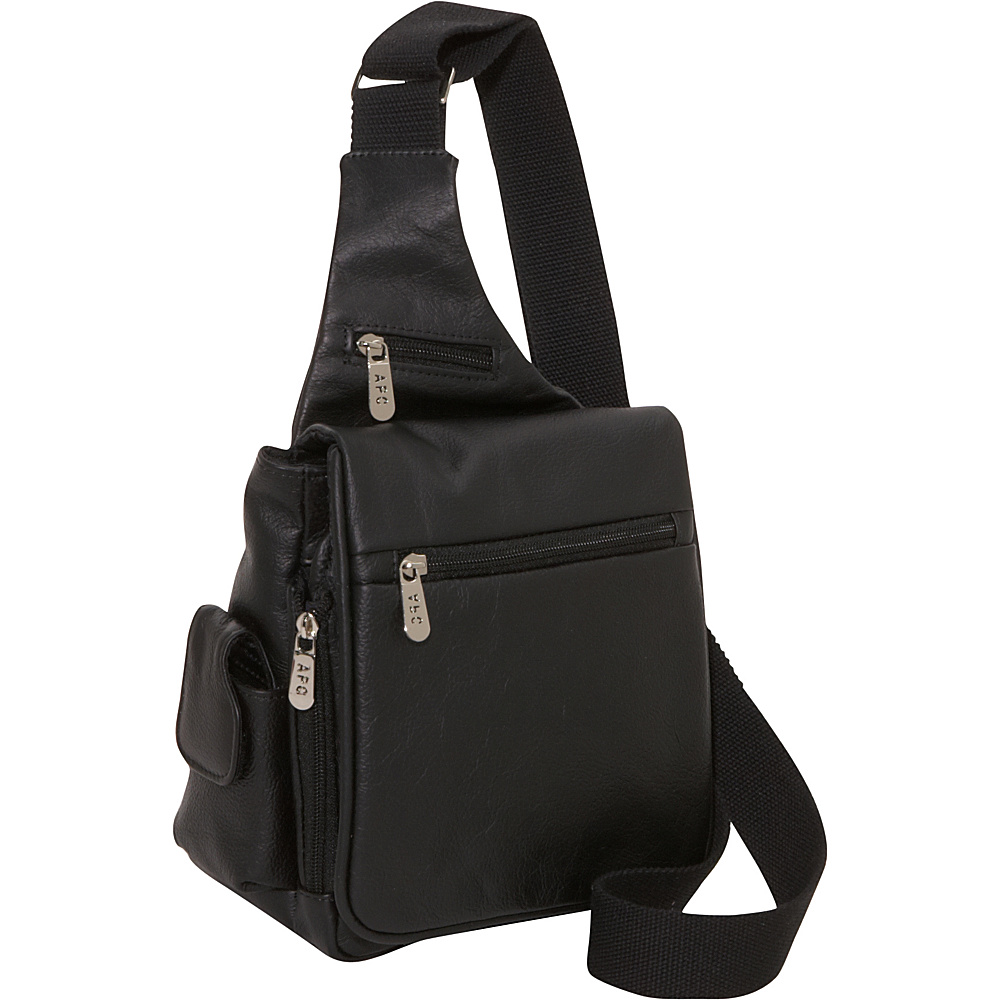 AmeriLeather Leather Convenient Travel Bag - Black - Work Bags & Briefcases, Other Men's Bags