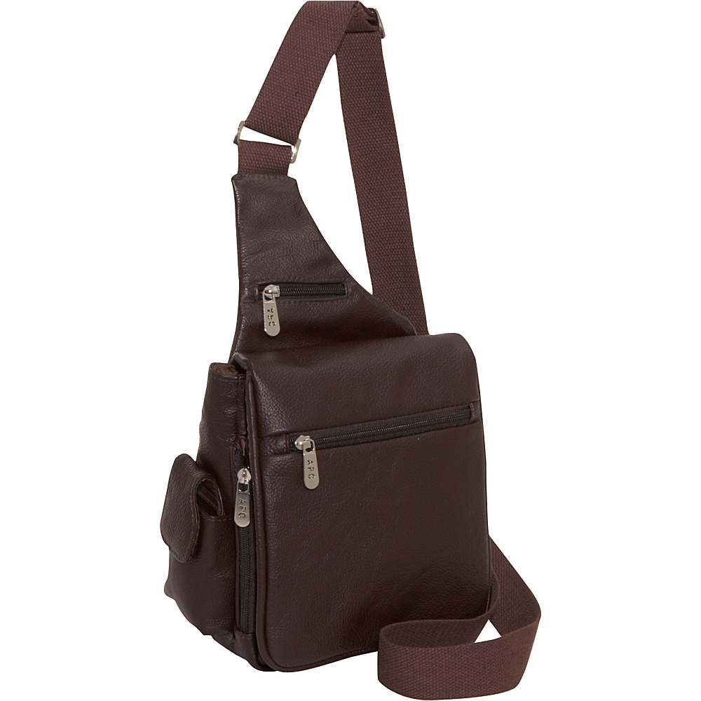 AmeriLeather Leather Convenient Travel Bag - Brown - Work Bags & Briefcases, Other Men's Bags