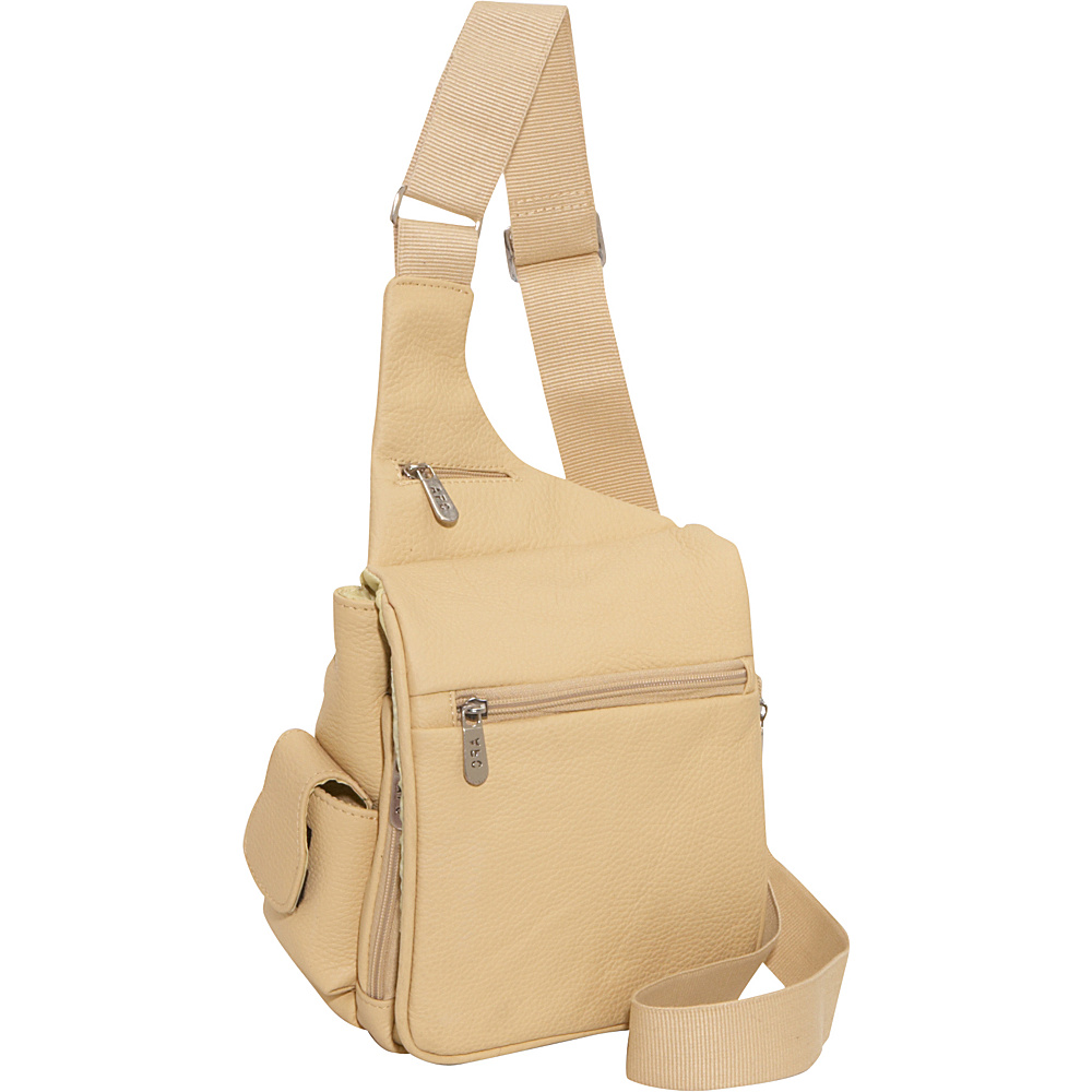 AmeriLeather Leather Convenient Travel Bag - Beige - Work Bags & Briefcases, Other Men's Bags