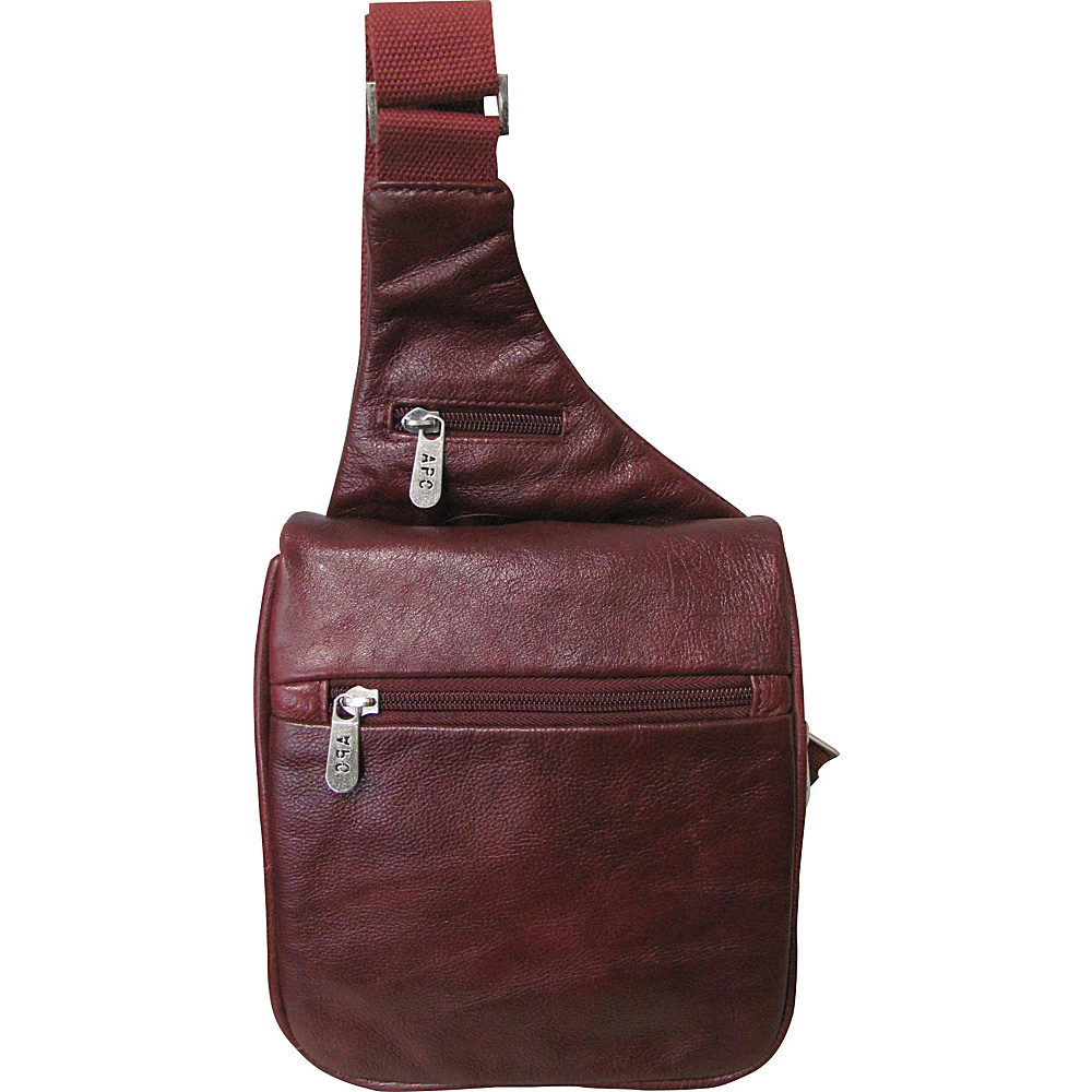 AmeriLeather Leather Convenient Travel Bag Taupe - AmeriLeather Other Mens Bags - Work Bags & Briefcases, Other Men's Bags