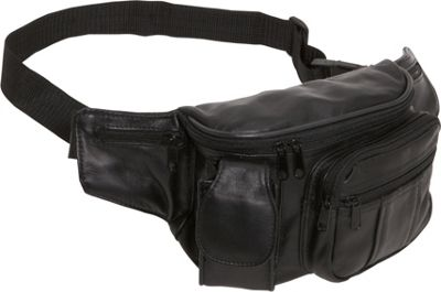 Amerileather Leather Cell Phone/Fanny Pack - Black