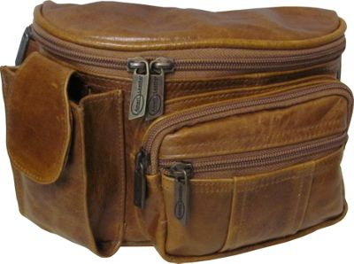 AmeriLeather Leather Cell Phone/Fanny Pack Brown - AmeriLeather Waist Packs