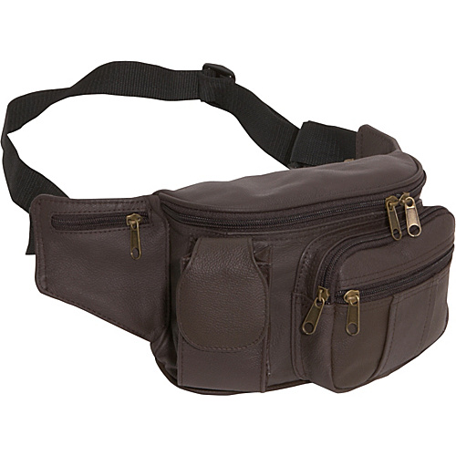 AmeriLeather Leather Cell Phone/Fanny Pack - Dark Brown