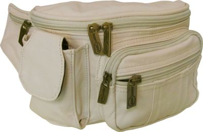 Amerileather Leather Cell Phone/Fanny Pack Off White - Am...