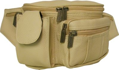 Amerileather Leather Cell Phone/Fanny Pack Beige - AmeriL...