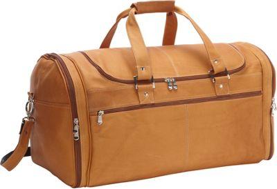 David King & Co. Deluxe Extra Large Multi Pocket Duffel Tan - David King & Co. Travel Duffels