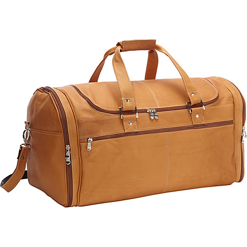 David King & Co. Deluxe Extra Large Multi Pocket Duffel Tan - David King & Co. Travel Duffels